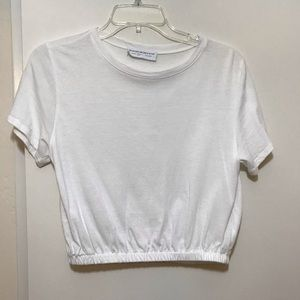 White Cropped Tee